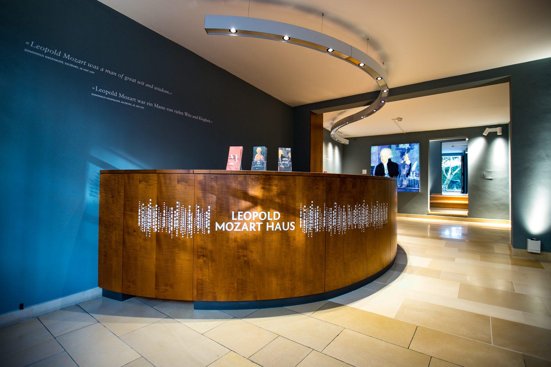 Das Foyer im Leopold Mozart Haus