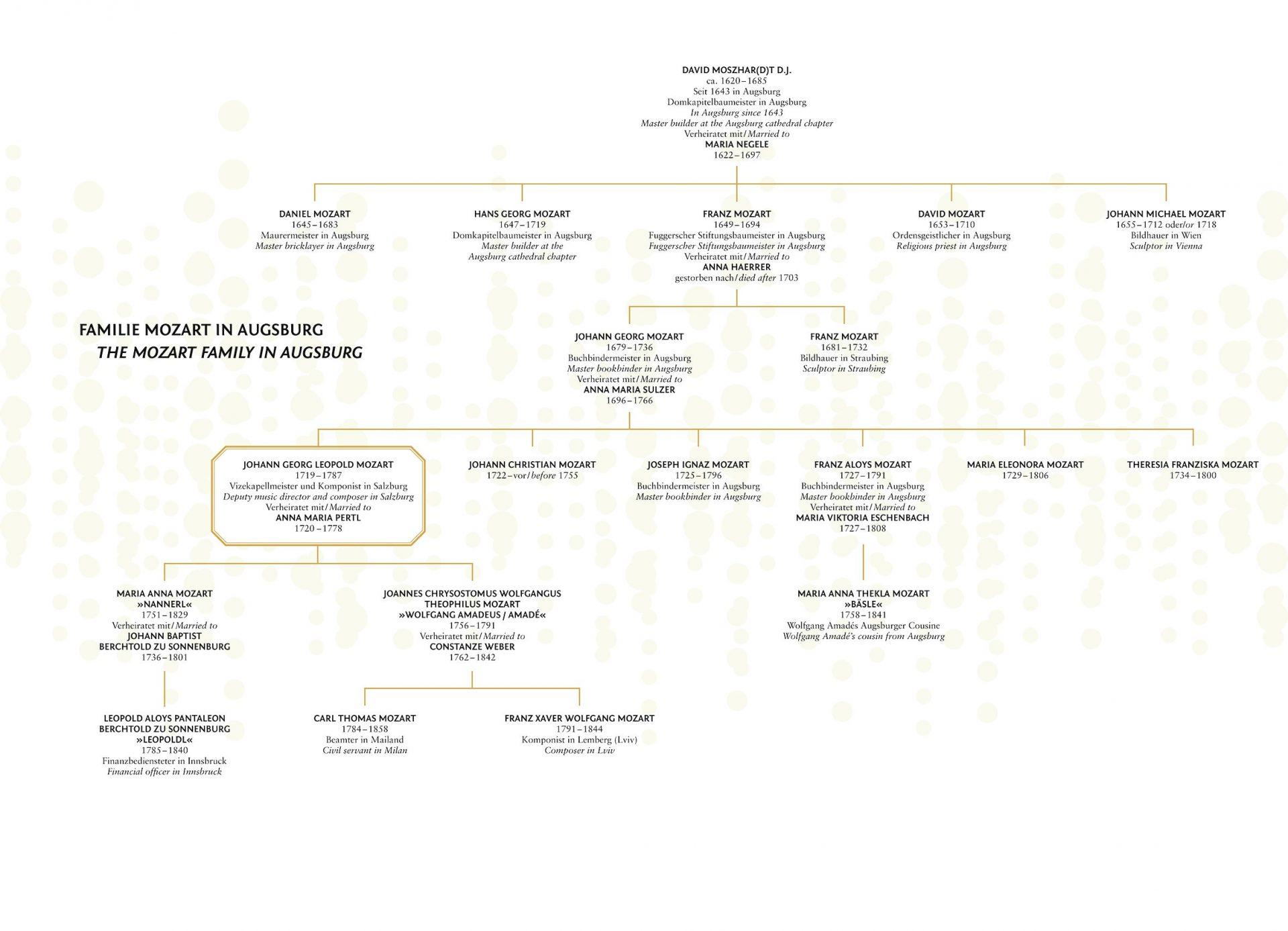 Stammbaum der Augsburger Mozarts